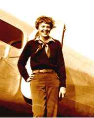 amelia earhart coloring page - amelia earhart in color and in her plane